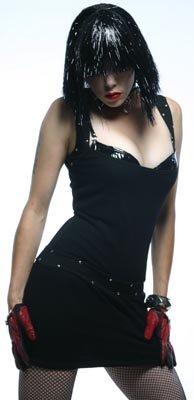 Lip Service Black Fishnet Dress