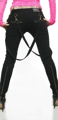 Lip Service Fitted Bondage Jean Pants