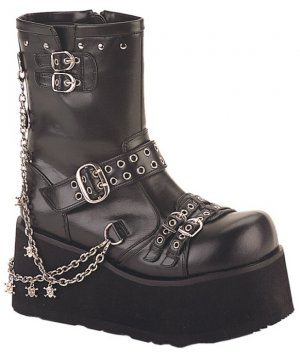 """Clash"" Visual Kei Platform Ankle Chain Boots"