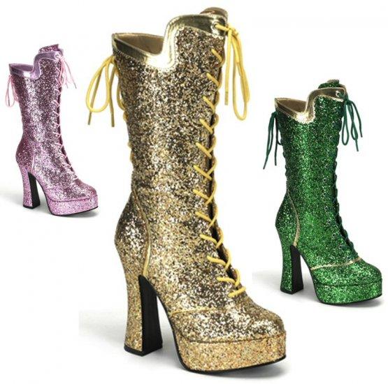 """""""Bordello"""" Glitter Party Mardi Gras Celebration Boots"""