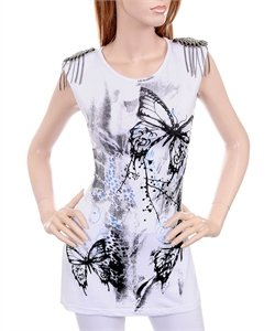 White Prismatic Butterfly T-Shirt