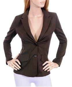 Brown Pinstripe Blazer Jacket Steampunk Professional