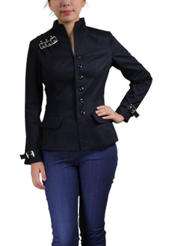 Black Buckle Accent Jacket