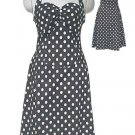 Polka Dot Rockabilly Pin-up Style Dress