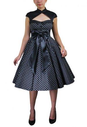 Deluxe Bow Polka-dot Dress