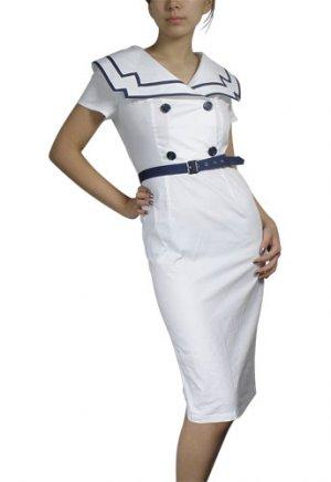 Vintage Style Retro Sailor Dress