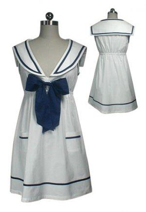 NEW White Vintage Sailor Bow Mini Dress Tunic