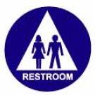 "Restroom Sign-UNISEX 12"""