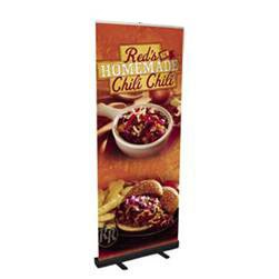 """Economy Retractable Banner Stand 33"""" x79"""" with better pole slot"""