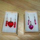 Swarovski Heart Pendant w/ Earrings (2 Set Available) - Hand Made