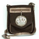 NWT Crown Rhinestone Messenger Bag