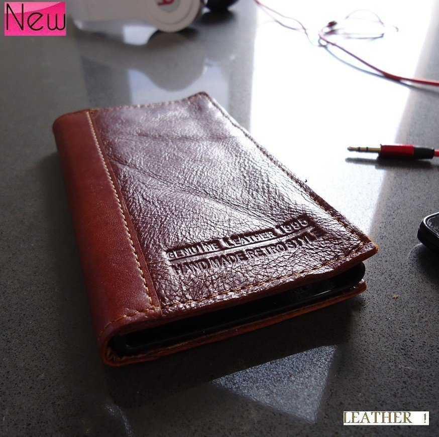 genuine leather case fit nokia lumia 920 book wallet cover pouch handmade wine s
