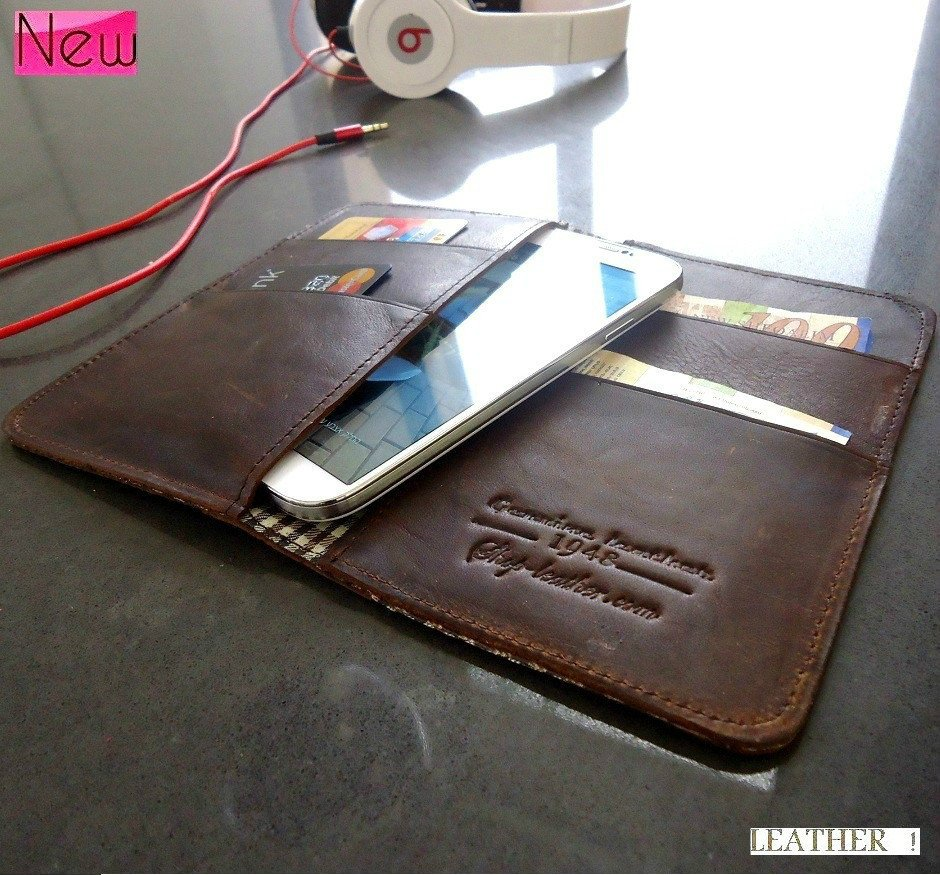 genuine real leather Case for nokia lumia 920 822 and Galaxy S4 book wallet s3