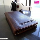 genuine vintage leather Case Fit Samsung Galaxy Note II 2 book wallet handmade R