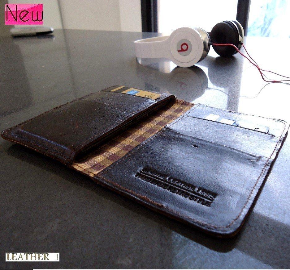 genuine leather case For Samsung retro book wallet cover galaxy s2 s2 s3 mini ID