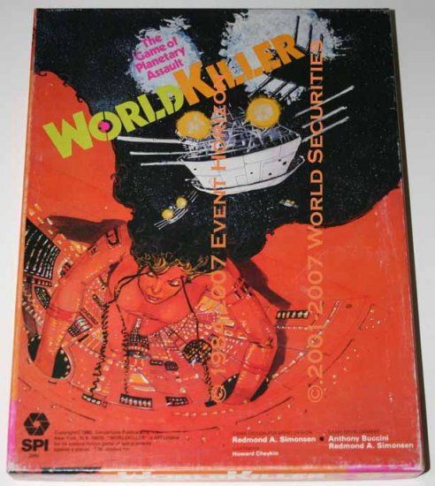 SPI Ares WorldKiller Game of Planetary Assault Box Game Set Strategy Tactics