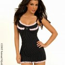 Pink stripe babydoll with panty