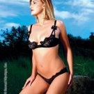 Balconnet underwire lace bra and matching lace low rise bikini