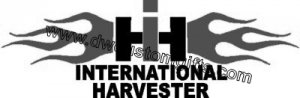 International Harvester Decal w/Flames