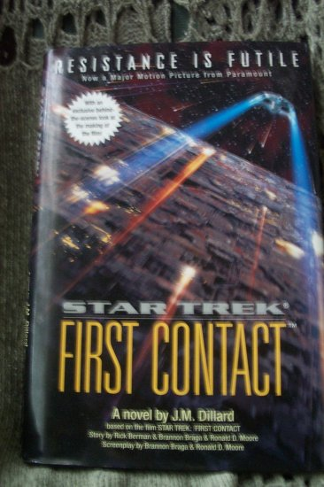 Used  Book - STAR TREK-THE FIRST CONTACT by J.M. Dillard (HB)