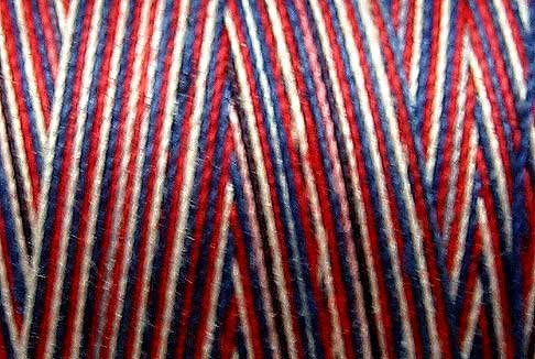 M17 Patriotic 35wt 1080 yds Valdani Hand Dyed Variegated Cotton Quilting Thread  q1