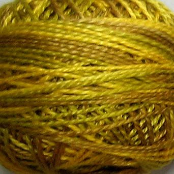 M16 Golden Accents  Pearl Cotton size 12  Valdani Variegated q2