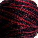 Discontinued M48 Red Eclipse  Pearl Cotton size 8  Valdani Variegated q1