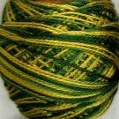 M50 Golden Pines - Pearl Cotton size 8 - Valdani Variegated q2