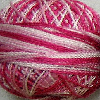 M1 Strawberry Cream - Pearl Cotton size 8 - Valdani Variegated q6