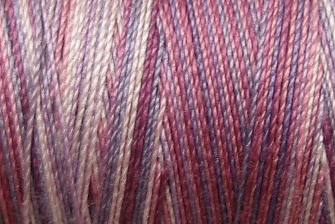 M27  Hawaiian Orchid 35 wt 500m  Valdani Hand Dyed Variegated Cotton Thread q1