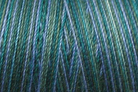 M30  Deep Waters 35 wt 500m  Valdani Variegated Cotton Quilting Thread q1