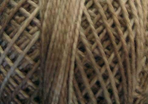 O512  Chimney Dust  Pearl Cotton size 12  0512 Valdani Overdyed q6