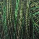 O539  Evergreens  Pearl Cotton size 12  Valdani Overdyed 0539 q2