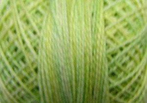 O543 - Lime Sherbet - Pearl Cotton size 8 0543 Valdani Overdyed q6