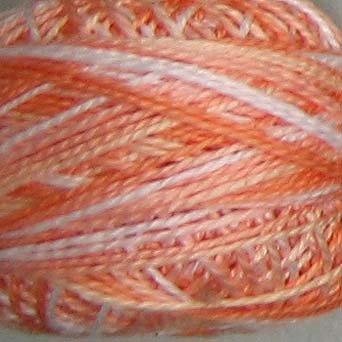 M22 Peaches Pearl Cotton size 8  Valdani Variegated q4