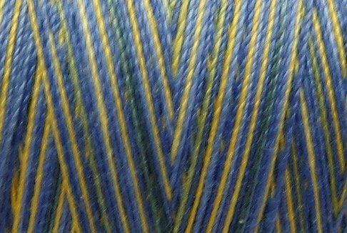 M09 Sun Kissed Sky 35wt 2000m cone Valdani Hand Dyed Variegated Cotton Quilting Thread  x1