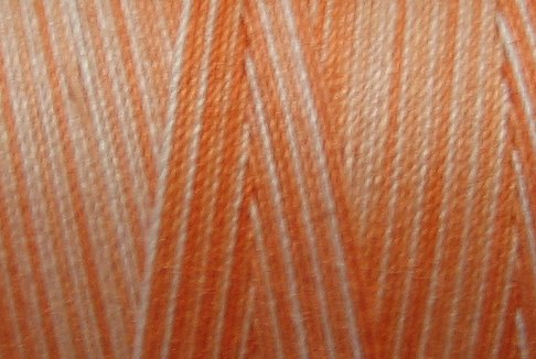 M22 Peaches 35wt 2000m cone Valdani Hand Dyed Variegated Cotton Quilting Thread  x0