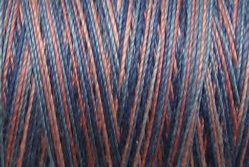 M25 Dusty Pinks and Blues 35wt 2000m cone Valdani Hand Dyed Variegated Cotton Quilting Thread  x0