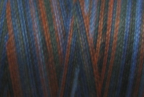 M53  Moonlit Mountain  35wt 2000m cone Valdani Hand Dyed Variegated Cotton Quilting Thread  q0
