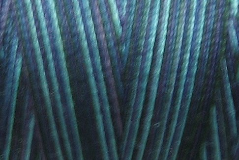 M58  Midnight Sea 35wt 2000m cone Valdani Hand Dyed Variegated Cotton Quilting Thread  x0