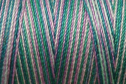 M21 Treasures 35wt 2000m cone Valdani Hand Dyed Variegated Cotton Quilting Thread  q0