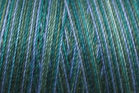 M30 Deep Waters 35wt 2000m cone Valdani Hand Dyed Variegated Cotton Quilting Thread  q0