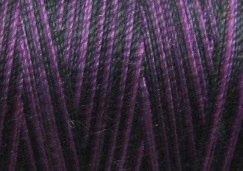 M92 Black & Indigo 35wt 1080yds Valdani Hand Dyed Variegated Cotton Quilting Thread  q1