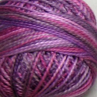 M18 Iris Petals  Pearl Cotton size 12  Valdani Variegated q6