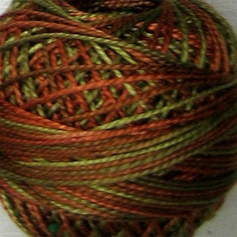 M78 Copper Leaf Pearl Cotton size 12  Valdani Varegated q2
