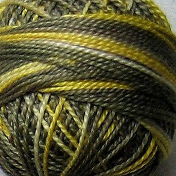M803 Sunflower Seeds  Pearl Cotton size 12  Valdani Variegated q1