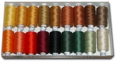 Valdani Thread 60 wt cotton 18x hand dyed - Autumn - Free Ship US CA - q2