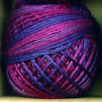 Punchneedle O521 Mulberry Grape 3 Strand Cotton Floss 0521 Valdani 29yd ball Free Shipping US q4