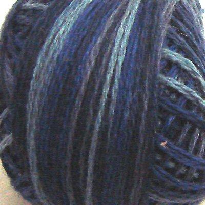 P7 Whitered Blue size 12 Overdyed Pearl Cotton Valdani Vintage Hues  q6