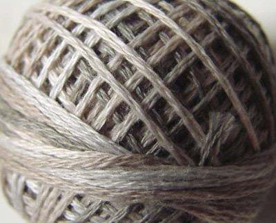 O538 0538 Cottage Smoke  Pearl Cotton size 12  Valdani Overdyed q5